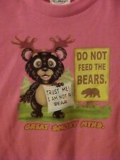 KIDS SMOKY MOUNTAIN BEAR T-SHIRT ~ DO NOT FEED THE BEAR~ SIZE SELECT