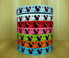 "5/8"" 50Yards Minnie Mouse Cartoon Printed Grosgrain Ribbon Hairbows"