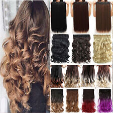 Mega Long Thick 3/4 Full Head 1pc Clip in Hair Extensions as Human Remy Soft T02