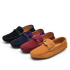 Mens Loafers Suede Leather Slip On loafer Casual Driving Moccasins Shoes