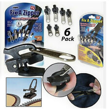 Slider Rescue Instant Repair Kit Replacement As seen ON TV 6Pc Fix A Zipper Zip