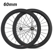 700C 60mm Clincher Tubular Carbon Wheels Racing Road Bike Carbon Bike Wheelset