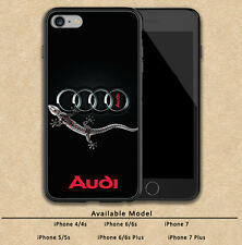 New Audi Gecko Logo Cars Print On Plastic Hard Case For iPhone 5s 6 6s 7 (Plus)