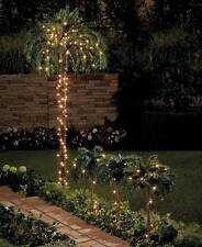 "Lighted Tropical Island 6' Tall Palm Tree or Set of (3) 31"" Tall Garden Yard"