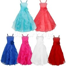 Flower Girl Kids Bow Princess Dress Party Wedding Bridesmaid Formal Prom Dresses