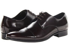 Kenneth Cole Mens CD Rom Bordo Red Lace-Up Casual Cap Toe Oxfords Dress Shoes