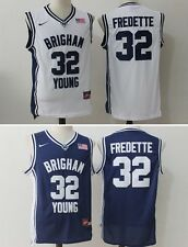 Jimmer Fredette #32 Basketball Stitched Jersey Brigham Young University Blue