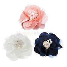 MagiDeal Vintage Brooch Corsage Fabric Camellia Brooch Pin Flower Hair Clip