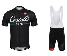 Team Castelli Cafe Cycling Jersey and Bib Shorts Set (UK SELLER)