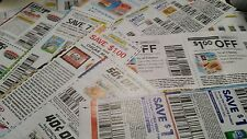 25 Manufacturer's Coupons Grocery all food