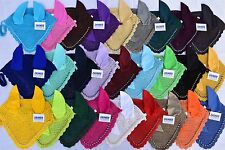 ZAINEE HORSE FLY VEIL EAR BONNET/NET BREATHABLE COTTON 27 COLORS FREE SHIPPING