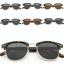 Polarized Lens Classic VTG Retro 1980's Browline Men Women's Sunglasses