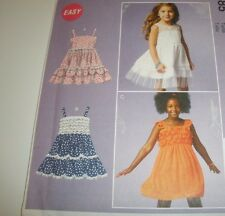 McCalls 6685 Girls SZ . 7-14 Sundress Layered Tiered Ruffled Dress Pattern  UC