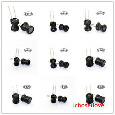 10pcs 22uH-10mH Inductor choke Radial Lead Power Inductor 6*8/8*10/9*12