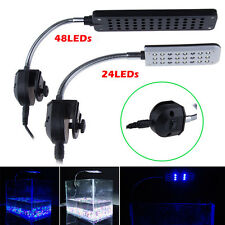Flexible Arm 24/48 LED Clip Lamp 2 Modes Aquarium Fish Tank Led Light Lighting