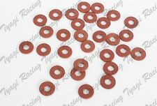 Assorted Red fibre washers plumbing insulating sealing
