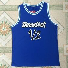 Anfernee Hardaway Men Stitched Black White Blue Throwback Basketball Jersey