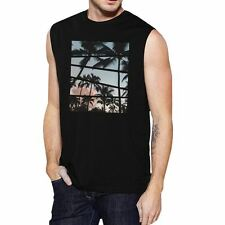 Palm Trees California Sunset Photography Mens Sleeveless Muscle Tee