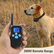 Dog Training Collar Waterproof Rechargeable LCD Electric Remote Shock Collar GW