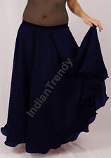 Navy Blue - 2 Layer Reversible Skirts Belly Dance Gypsy 9 Yd Fulll Circle Jupe