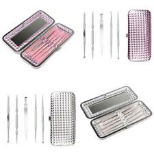 5 Blackhead Acne Blemish Comedone Extractor Tool Tweezers Needle Remover Set