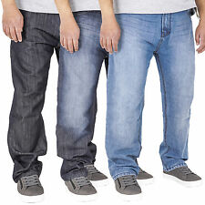New Mens Classic Straight Leg Regular Fit Basic Denim Jeans Big Sizes King