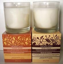 The Body Shop 7 oz Boxed Candle Spiced Vanilla or Candied Ginger