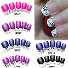 French Nail Art Sticker Shiny Rhinestone Flower Butterfly Decal Decor Handy