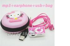 fashion Mini Hello Kitty MP3 Music Player Clip Support TF Card With Earphone USB
