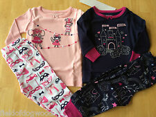 NWT Gymboree Girls Circus Gymmies Cotton Pajamas PJs Set SZ 12 18 M 3 4 Toddler