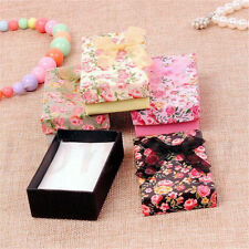 Rectangle Bowknot Flower Pattern Package Bracelet Bangle Jewelry Display Box New