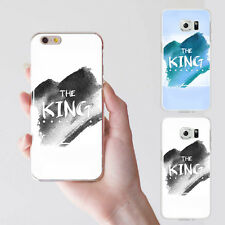 KING QUEEN COUPLE PHONE CASE COVER FOR SAMSUNG GALAXY S4 S5 S6 IPHONE 6 HONEST
