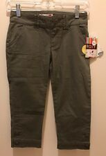 NEW! ROXY GIRL Cropped Slim Fit Capris, Green Sizes 12 14