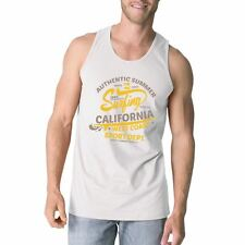 Authentic Summer Surfing California Mens White Tank Top