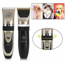 Electric Pet Clipper Cat Dog Hair Trimmer Grooming Cordless Shaver Kit Set UU