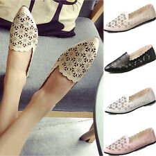Women's Pointed Toe Ballet Flats Slip on Hollow Shoes Stiletto Fashion Loafer Sz
