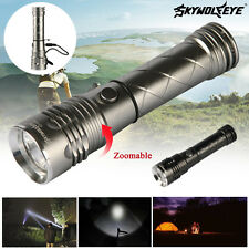 Zoom 2800LM 4-Modes CREE XML T6 LED Flashlight Torch Light + Camping Light CB