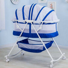 Baby Infant Portable Rocking Bassinet Cradle Bed Cot Foldable Travel Bed