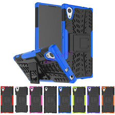 Heavy Duty kickstand Hybrid Armor Cover TPU Case Skin for Sony Xperia X Phones