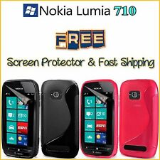 NOKIA LUMIA 710 TPU S Line Plastic Cover Case + FREE Screen Protector + Shipping