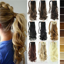 Hair Tape Wrap Around Ponytail Clip In Hair Extension Extensions Synthetic Remy