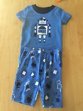 NWT Gymboree Boys Gymmies Robot Shortie Pajamas PJ 18 24 3 5 6 10