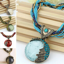 Retro Jewelry Gem Crystal Multilayer Beads Chain Handmade Bohemia Style|Necklace