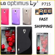 LG Optimus L7 II P715 S LINE TPU Rubber Cover Case FREE FAST SHIPPING NEW