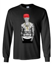 Long Sleeve Adult T-Shirt Trump Make America Great Again President Thug Gangster
