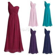 Women Formal Long Ball Gown Party Prom Chiffon Cocktail Wedding Bridesmaid Dress