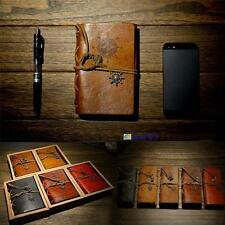 Vintage Classic Retro Leather Journal Travel Notepad Notebook Blank DiaryMemo BB