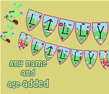 Birthday personalised Ben and Holly Large banner any name any age name and photo