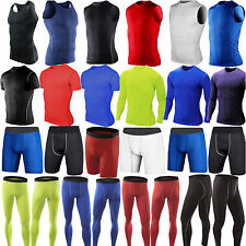 Mens Sports Compression Shorts Pants Tank Top T-Shirt Base Layer Running Tights