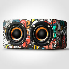 Mini Wooden Wireless Bluetooth 4.0 Speaker Portable Stereo Bass Music Speakers